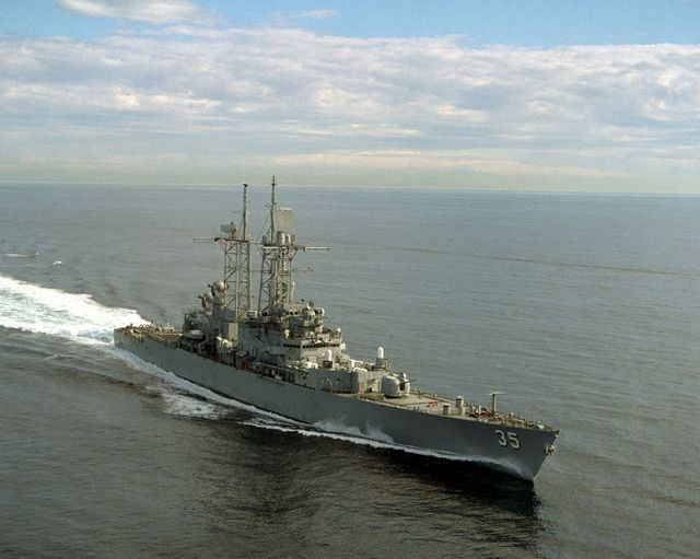 USS Truxtun (CGN-35) nuclear-powered  guided missile cruiser.